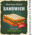 Retro Fast Food Sandwich Poster 31378498