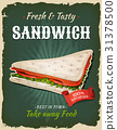 Retro Fast Food Swedish Sandwich Poster 31378500