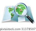 Magnifying Glass On World Map 31378507