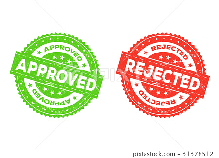 Approved And Rejected Stamp 31378512