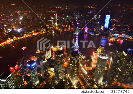 Evening view from Shanghai Tower 31378743