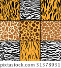 Seamless pattern with cheetah skin. vector 31378931