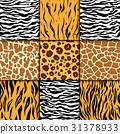 Seamless pattern with cheetah skin. vector 31378933
