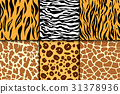 Seamless pattern with cheetah skin. vector 31378936