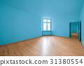 empty room, wooden floor in new apartment 31380554