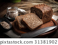 Wholemeal bread with sunflower seeds. 31381902