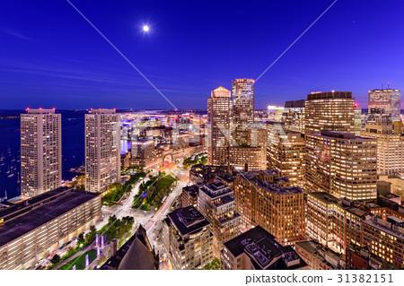 Boston Financial District Cityscape 31382151