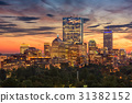 Boston Massachusetts Skyline 31382152