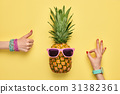 fashion, pineapple, summer 31382361