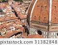 Aerial view of Florence, Italy. 31382848