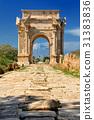 ruins, site, road 31383836