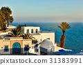 Sunset view of Sidi Bou Said, Africa 31383991