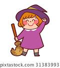 万圣节 女巫 女孩 31383993