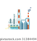 Modern industrial building isolated vector icon 31384494