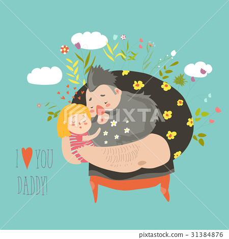 Daughter hugging her father 31384876