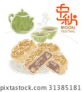 Mid-Autumn Festival Moon Cake Tea Moon 31385181