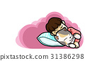 Goodnight and sweetdream ,vector illustration 31386298