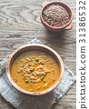 Two bowls of lentil curry 31386532