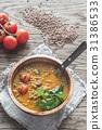 Bowl of lentil curry 31386533
