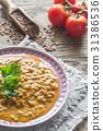 Bowl of lentil curry 31386536