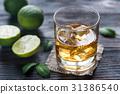 glass lime liquor 31386540