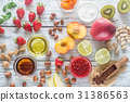 Ingredients for healthy dessert 31386563