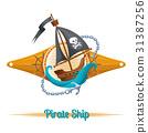 pirate, ship, vector 31387256