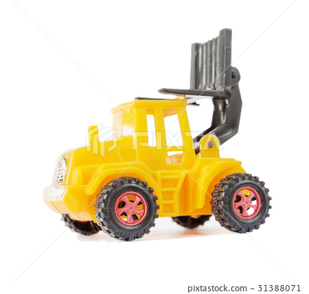 Yellow toy forklift 31388071