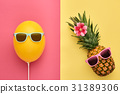 fashion, pineapple, summer 31389306