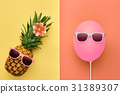 fashion, pineapple, summer 31389307