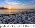 Sunset in Limenas harbour. 31389819