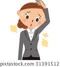 Employee of armpit sweat 31391512