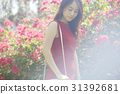 attractive, red, dress 31392681