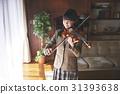 少女 學生 小提琴 31393638