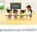 Disabled African American girl and two other 31400957