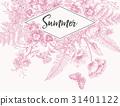engraving flower frame 31401122