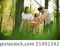가족, 공원, 자전거 31401342