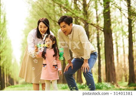 3인 행복한 가족 31401381