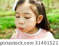 민들레, 소녀, 어린이 31401521