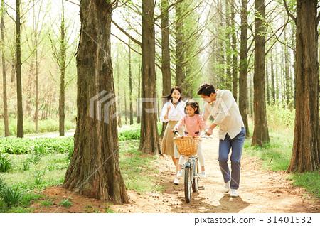 3인 행복한 가족 31401532