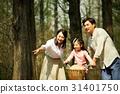 가족, 공원, 자전거 31401750