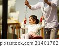 놀이터에 있는 아빠와 딸 31401782