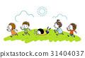 孩子們高高興興地跑步 31404037