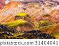 Colorful mountains at Landmannalaugar - start of 31404041