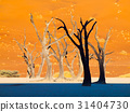 Silhouettes of dead trees in Deadvlei, near 31404730