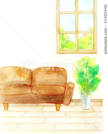 Watercolor illustration room 31405446