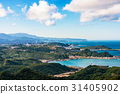 View of Jiufen hills and sea 31405902