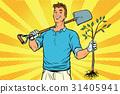 shovel, sapling, vector 31405941