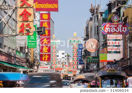 태국 수도 방콕의 차이나 타운 (야와라토 거리) 31406034