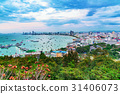 View of Pattaya city in the evening 31406073